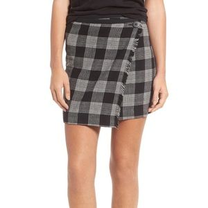 Madewell Plaid Wrap Skirt